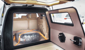 TAG Armored Toyota Land Cruiser (TLC) 200 Series Rear Bullet Proof Door Open