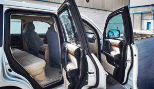 TAG Interior of bulletproof Toyota Land Cruiser (TLC) 200 Series cash-in-transit vehicle