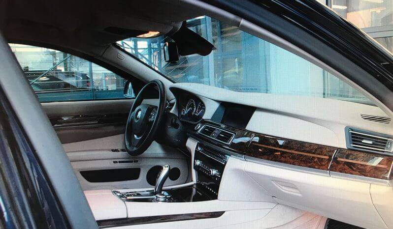 Interior of pre-owned 2012 bulletproof BMW 7 sedan picture