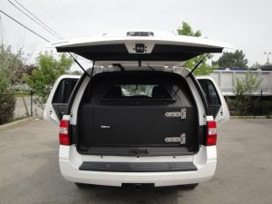 TAG Armored Ford Expedition Rear And Side Doors Open Armored Door Installed