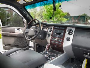 TAG Armored Ford Expedition Dashboard