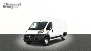 TAG White armored Dodge Promaster van picture