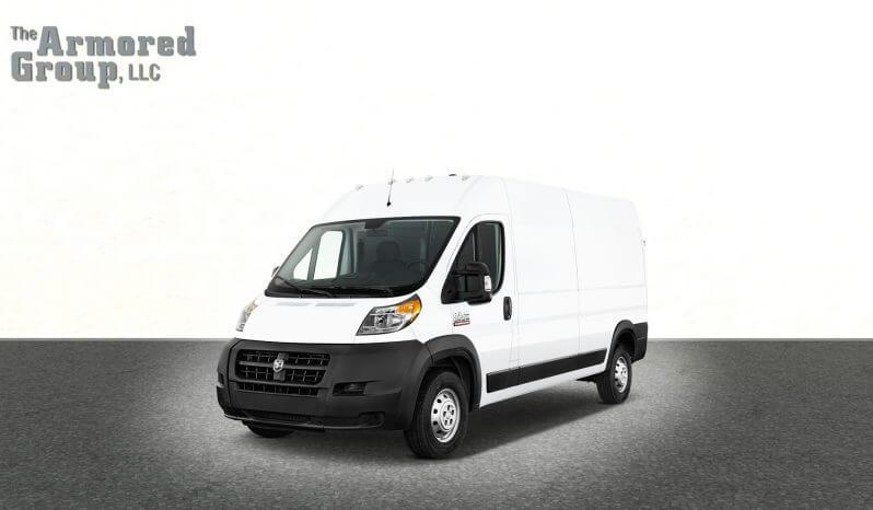 White armored Dodge Promaster van picture