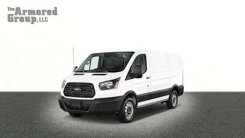 White armored Ford Transit T250 cash-in-transit van picture
