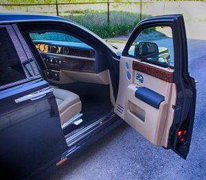 TAG Armored Rolls Royce Phantom Passenger Door Open
