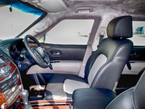 TAG Interior of bulletproof Nissan Armada SUV