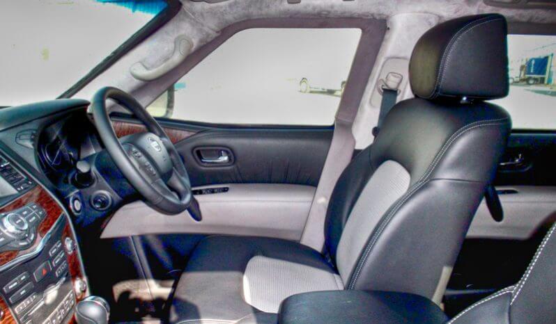 Interior of bulletproof Nissan Armada SUV