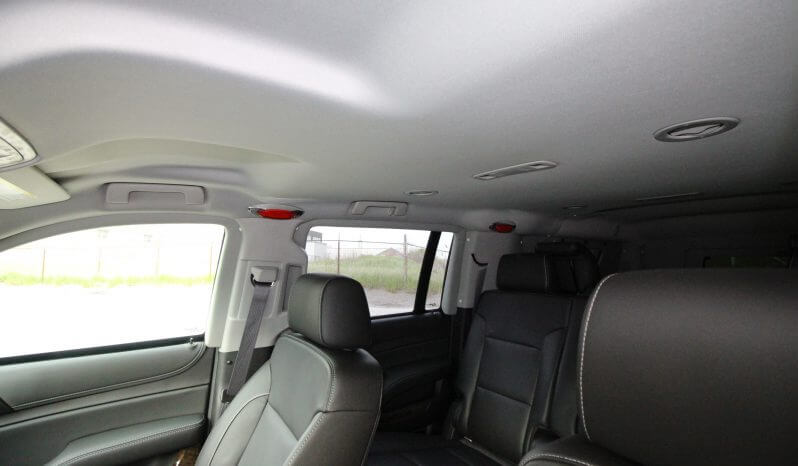 TAG Discreet Armored Suburban Interior Seats Roof View Red Lights