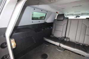 TAG Discreet Armored Suburban Rear Seats Interior Wall Panel Window Proof