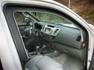 TAG Armored Toyota Hilux Passenger Dashboard