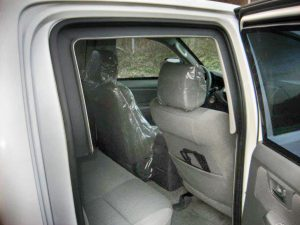 TAG Armored Toyota Hilux Rear Interior