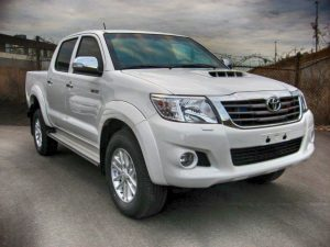 TAG White armored Toyota Hilux truck picture with bulletproof glass
