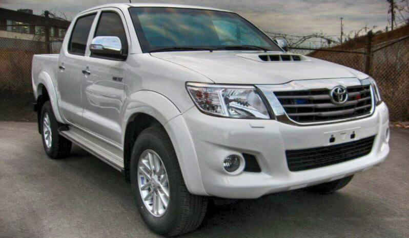 White armored Toyota Hilux truck picture with bulletproof glass