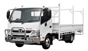 TAG White armored Hino 338 cash-in-transit truck picture