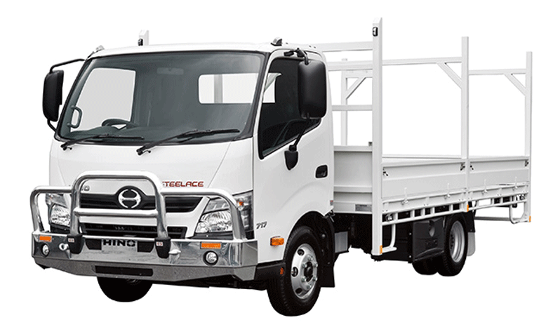 White armored Hino 338 cash-in-transit truck picture