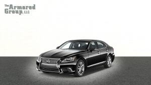 TAG Picture of armored Lexus LS sedan with bulletproof glass