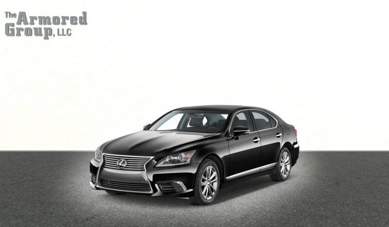 Picture of armored Lexus LS sedan with bulletproof glass