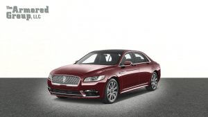 TAG Armored Lincoln Continental sedan with blast protection
