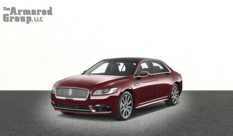 Armored Lincoln Continental sedan with blast protection