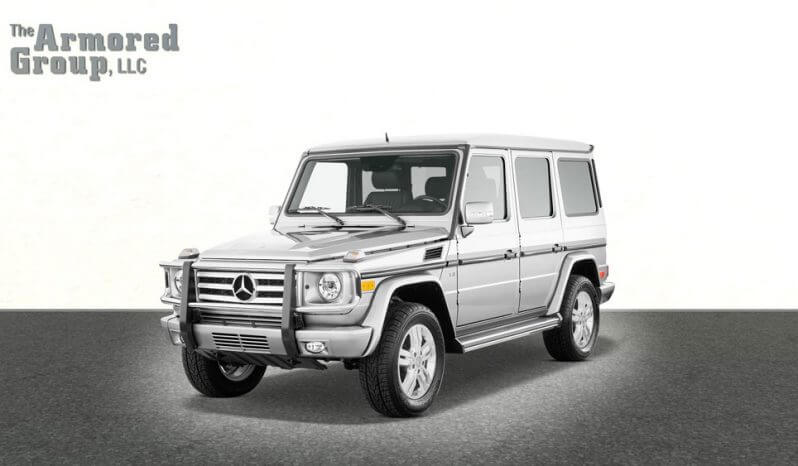 Silver armored bulletproof Mercedes G Class picture