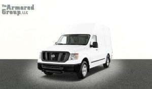 TAG White armored Nissan NV cash-in-transit van with low/high roof picture