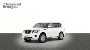 TAG Armored Nissan Armada White armored Nissan Armada SUV picture