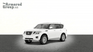 TAG White armored Nissan Patrol SUV with bulletproof glass picture