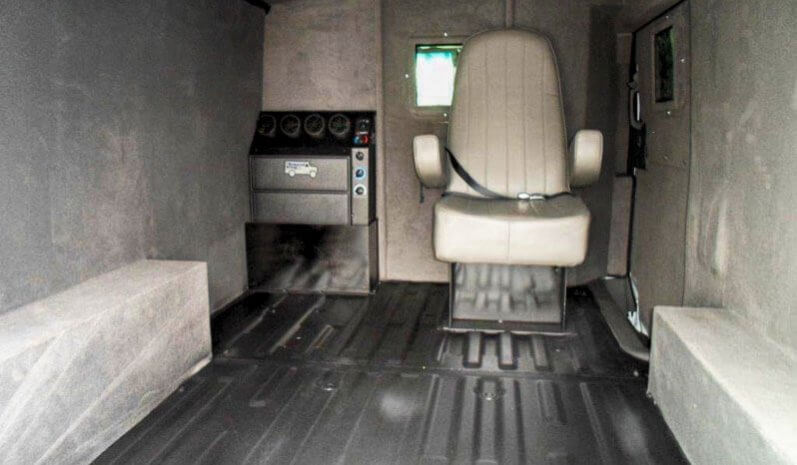 TAG Interior of bulletproof Nissan NV cash-in-transit cargo van