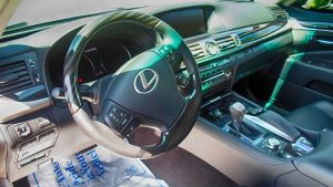 TAG Armored Lexus LS steering wheel with professional interior finishing