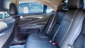 TAG Picture of armored Lexus LS sedan back seats