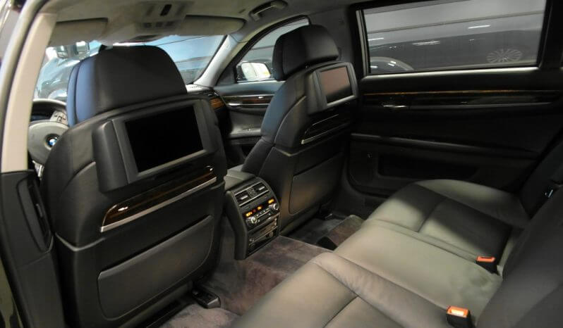 Interior of pre-owned 2011 bulletproof BMW 7 sedan