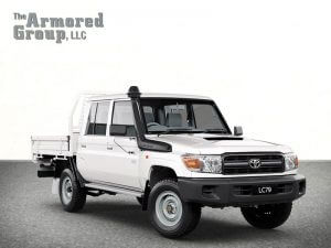 TAG White armored Toyota Land Cruiser with bulletproof glass picture