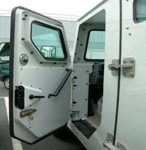 TAG Armored Toyota Land Cruiser 79 Driver Door Open Security