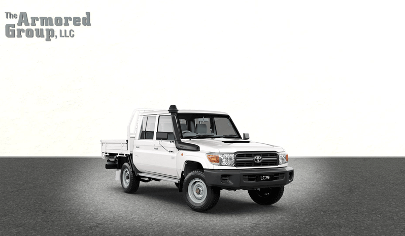 White armored Toyota Land Cruiser with bulletproof glass picture