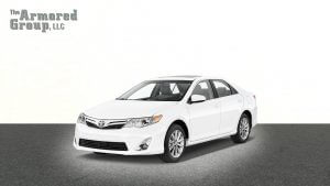 TAG Armored Toyota Camry White Driver Front Corner