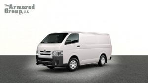 TAG White armored Toyota Hiace cash-in-transit van picture