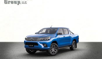Blue armored Toyota Hilux truck picture with bulletproof glass