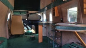 TAG 1992 Armored Ford E350 Interior Space View Green Carpet