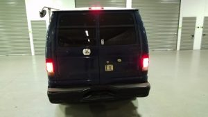 TAG 1999 Ford E250 Rear View Tail Lights On Red