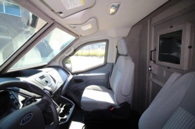 TAG Ford Transit 250 CIT Driver View Passenger Seat