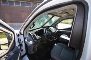 TAG Interior of pre-owned 2016 Ford T250 cash-in-transit bulletproof van