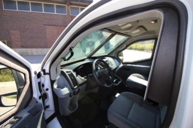 TAG Interior of pre-owned 2016 Ford T250 cash-in-transit bulletproof van