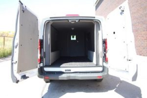 TAG Ford Transit 250 CIT Rear Doors Open Interior Space View