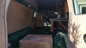 TAG 1992 Armored Ford E350 Rear Door Open Interior Space