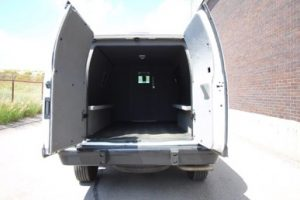TAG Ford E250 CIT Rear Doors Open Interior View