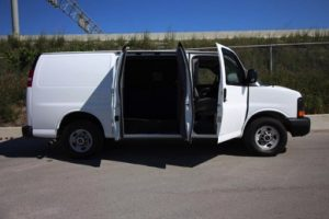 TAG 2015 GMC Savana 2500 Cargo Van Side View Doors Open