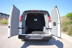 TAG 2015 GMC Savana 2500 Cargo Van Rear Doors Open View Interior Space