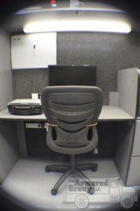 TAG Law Enforcement: Hostage/Crisis Negotiator HNT Single Office Space Chair Desk Monitor