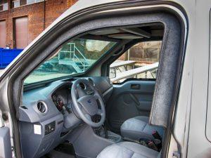 TAG Interior of bulletproof Ford Transit Connect van