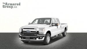 TAG White Ford F-350 armored truck picture